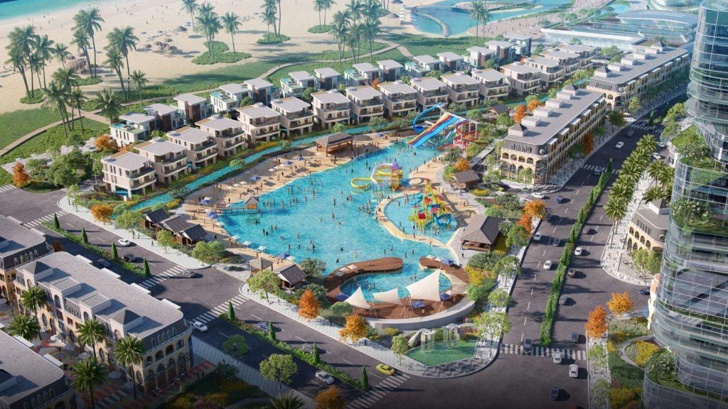 Công viên nước rộng lớn với các trò chơi dưới nước tại dự án Venezia Beach Bình Châu