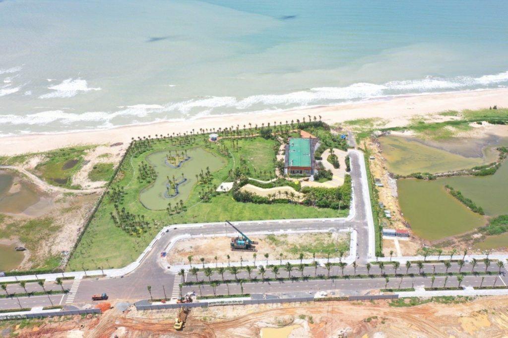 Hình ảnh thực tế khu nhà mẫu dự án Venezia Beach T8-2021