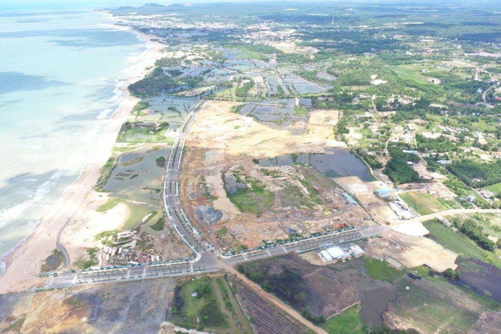 Hình ảnh thực tế tổng thể dự án Venezia Beach T08-2021