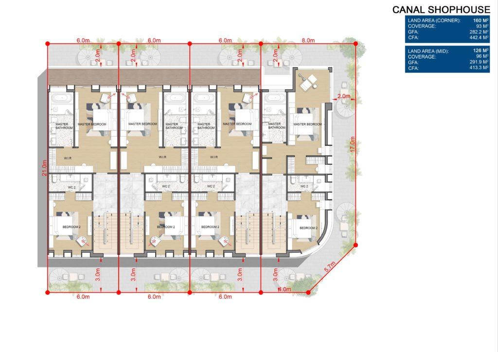 Layout chi tiết L3 Shophouse dự án Venezia Beach Hồ Tràm Bình Châu