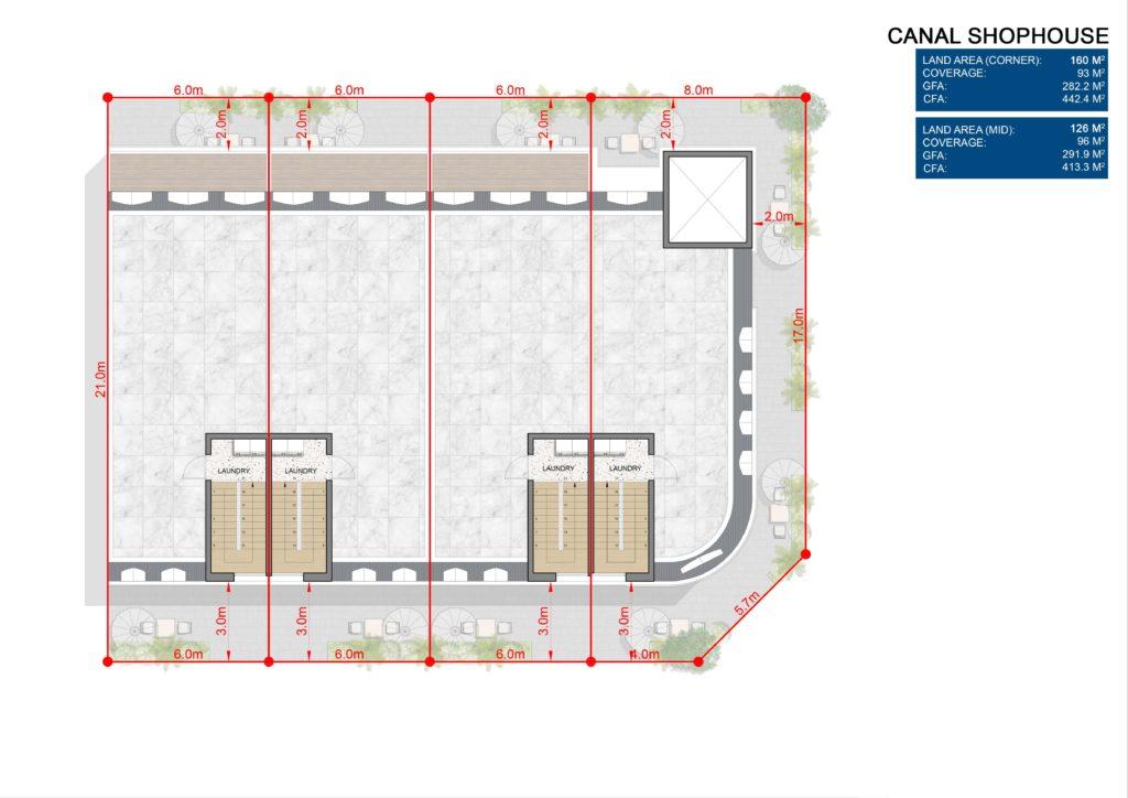 Layout chi tiết L5 Shophouse dự án Venezia Beach Hồ Tràm Bình Châu