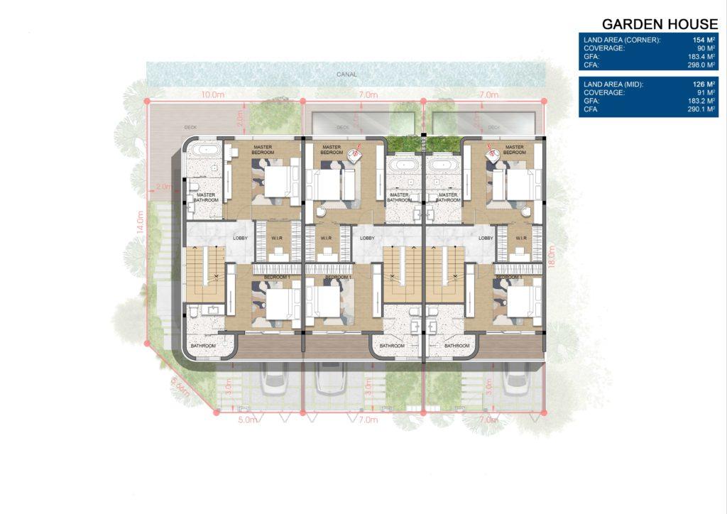 Layout chi tiết Nhà vườn Garden House thuộc dự án Venezia Beach