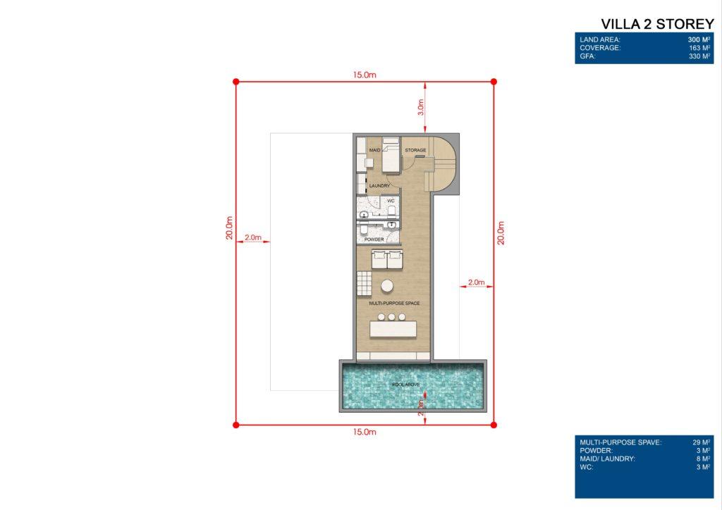 Layout chi tiết Siêu biệt thự mặt biển 2 tầng L0 dự án Venezia Beach Hồ Tràm Bình Châu