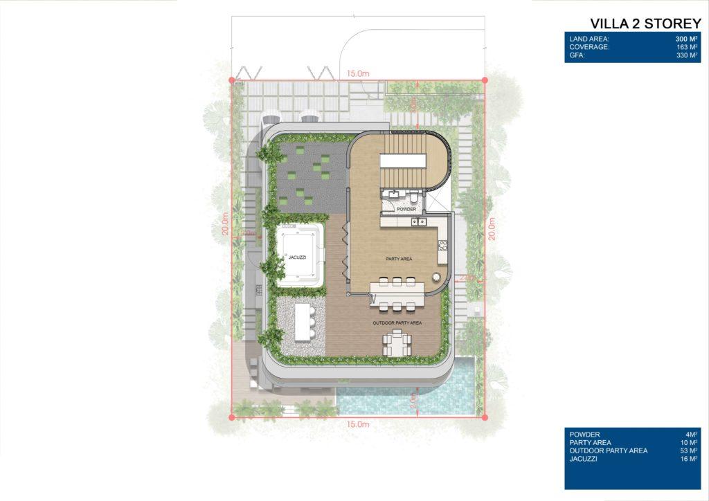 Layout chi tiết Siêu biệt thự mặt biển 2 tầng L3 dự án Venezia Beach Hồ Tràm Bình Châu