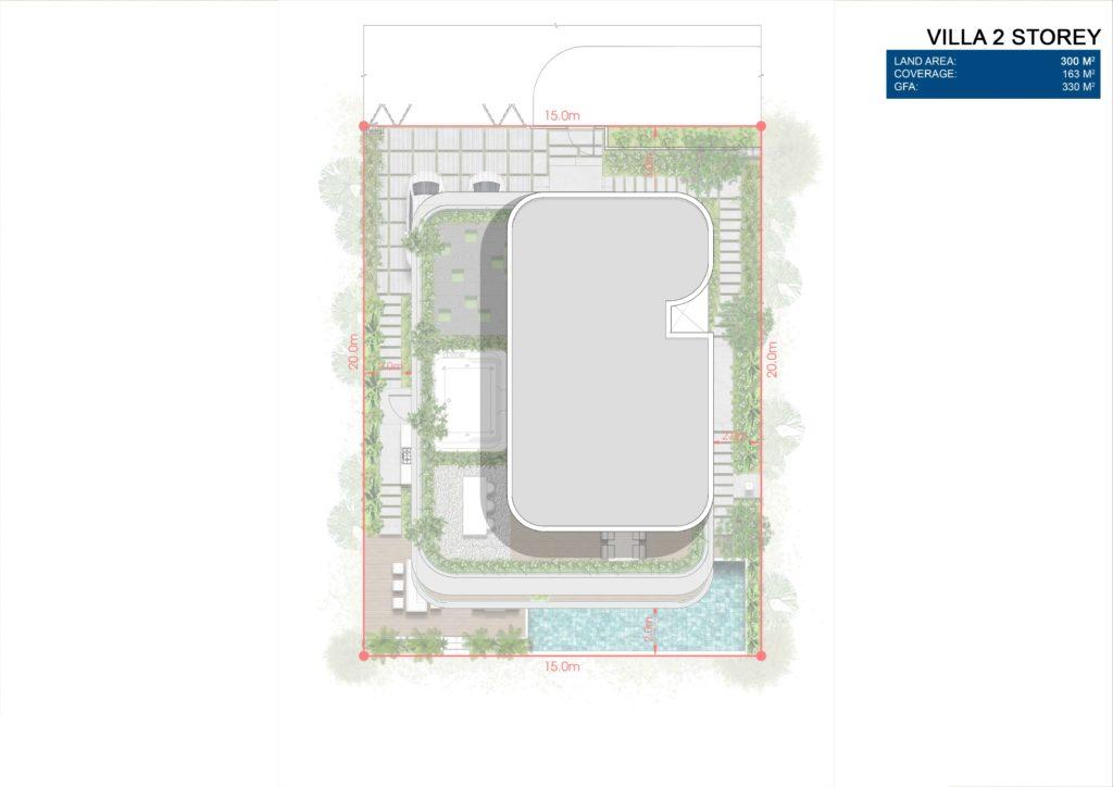Layout chi tiết Siêu biệt thự mặt biển 2 tầng dự án Venezia Beach Hồ Tràm Bình Châu