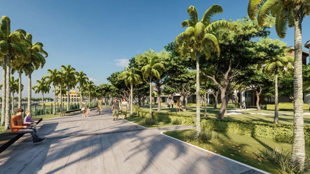Mật độ cây xanh cao mang lại không khí trong lành cho cư dân Venezia Beach