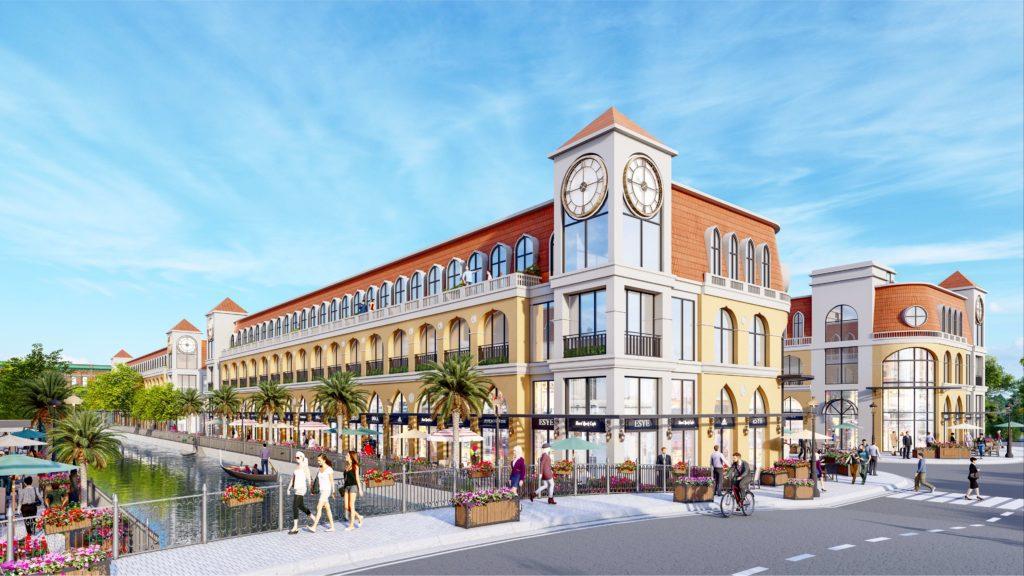 Nhà mẫu Canal Shophouse dự án Venezia Beach Hồ Tràm - Bình Châu