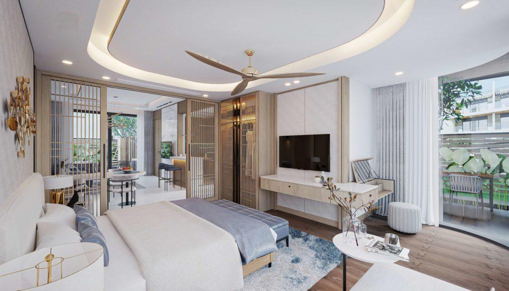 Nội thất bàn giao căn Multi-key Garden House dự án Venezia Beach Hồ Tràm theo tiêu chuẩn 5 sao