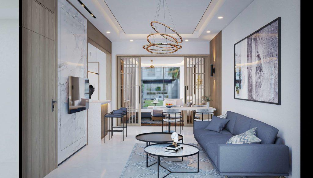 Nội thất bàn giao căn Multi-key Garden House dự án Venezia Beach Hồ Tràm theo tiêu chuẩn Best Western