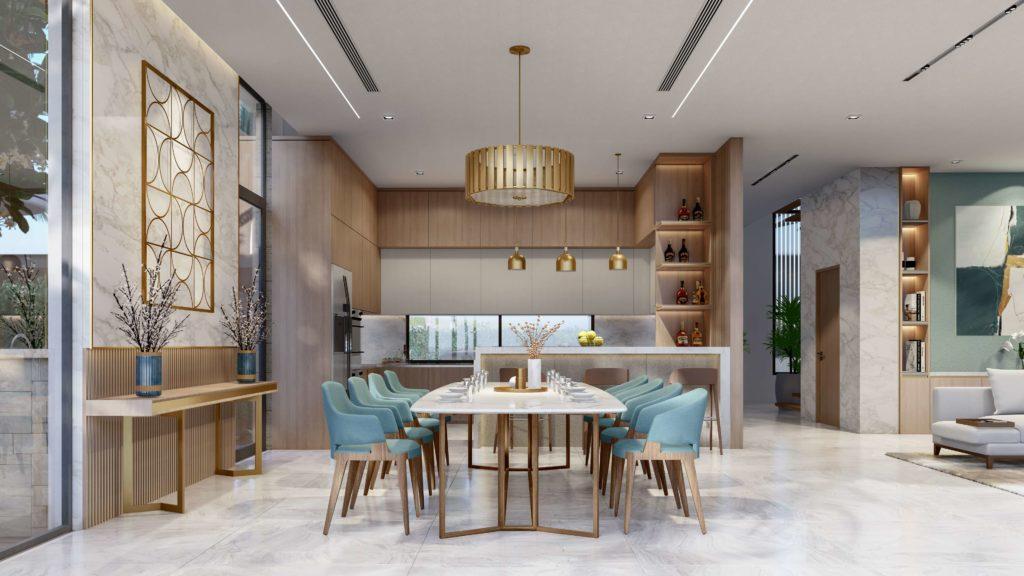 Nội thất bàn giao siêu biệt thự biển đẳng cấp dự án Venezia Beach Hồ Tràm Bình Châu