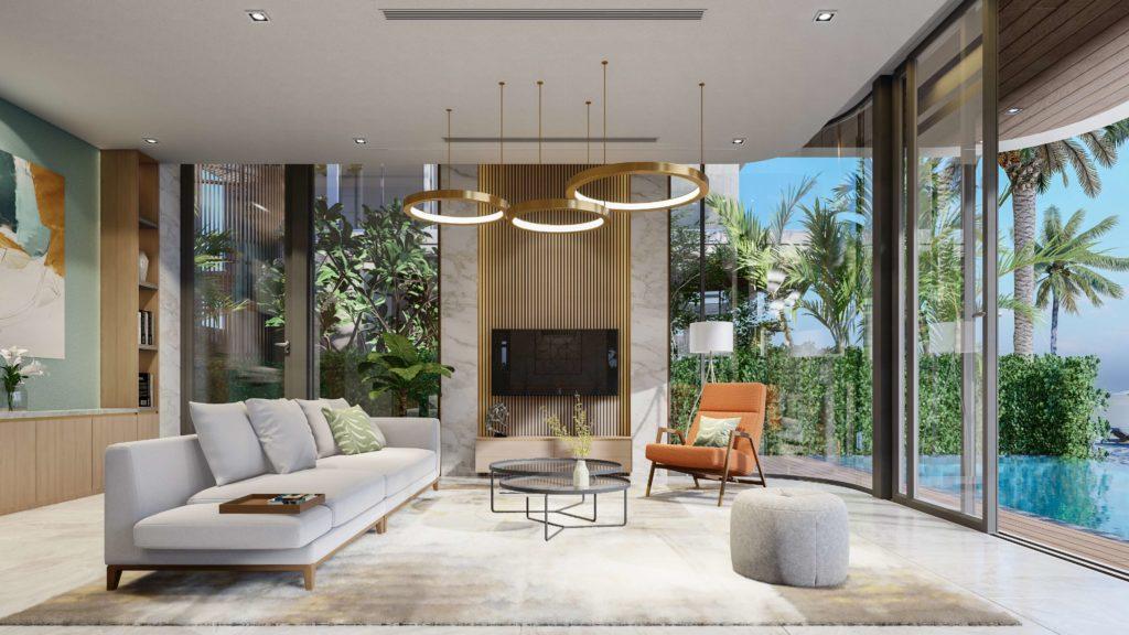 Nội thất bàn giao siêu biệt thự biển đẳng cấp dự án Venezia Beach Hồ Tràm Bình Châu theo tiêu chuẩn 5 sao