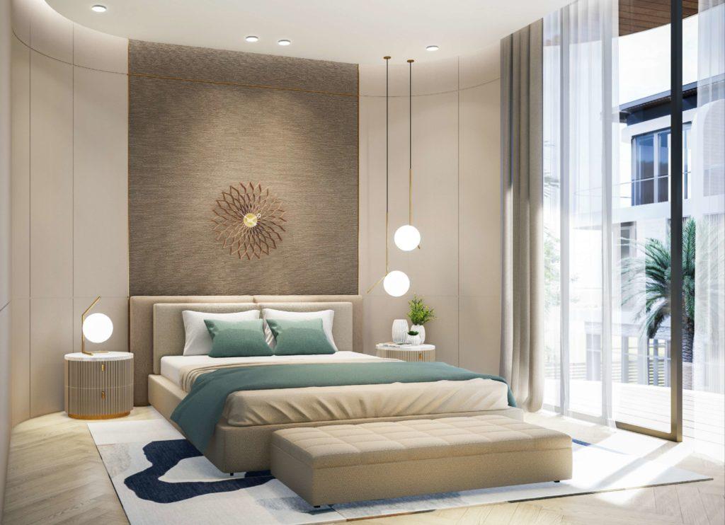 Nội thất phòng ngủ 1 bàn giao dự án Venezia Beach Hồ Tràm