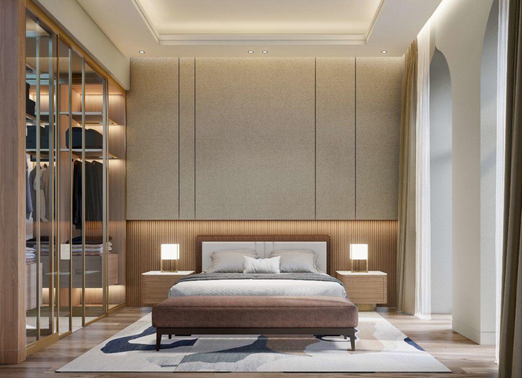 Nội thất phòng ngủ bàn giao Shophouse dự án biển Venezia Beach