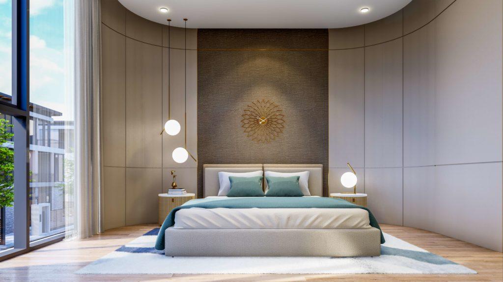 Nội thất phòng ngủ bàn giao dự án Venezia Beach Village