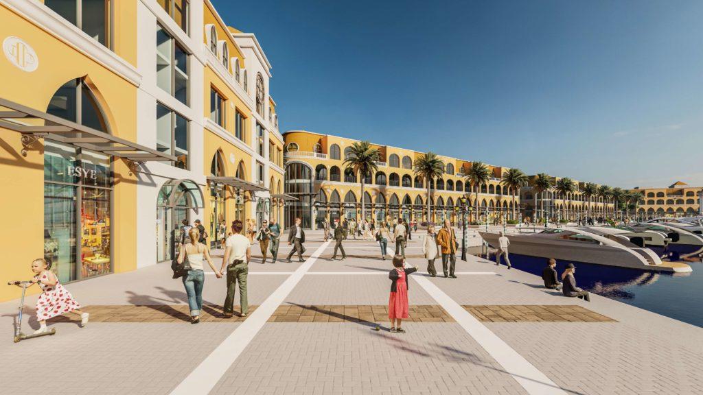 Phối cảnh Bến du thuyền đẳng cấp của dự án BĐS biển Venezia Beach