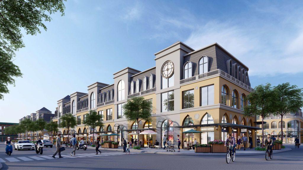 Phối cảnh Boulevard Shophouse của dự án Venezia Beach Hồ Tràm
