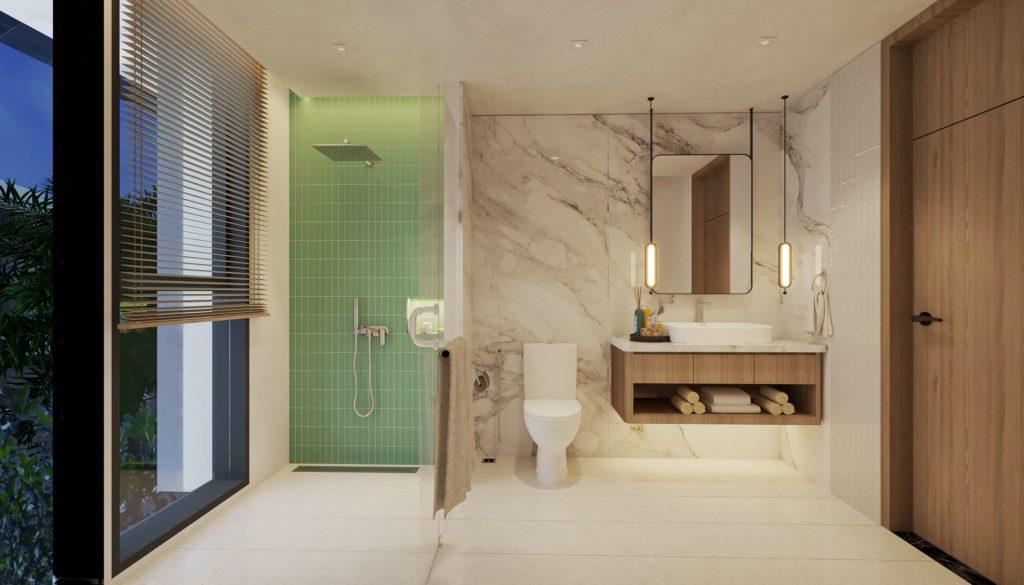 Phối cảnh Nội thất bàn giao căn Multi-key Garden House dự án Venezia Beach Hồ Tràm theo tiêu chuẩn Best Western