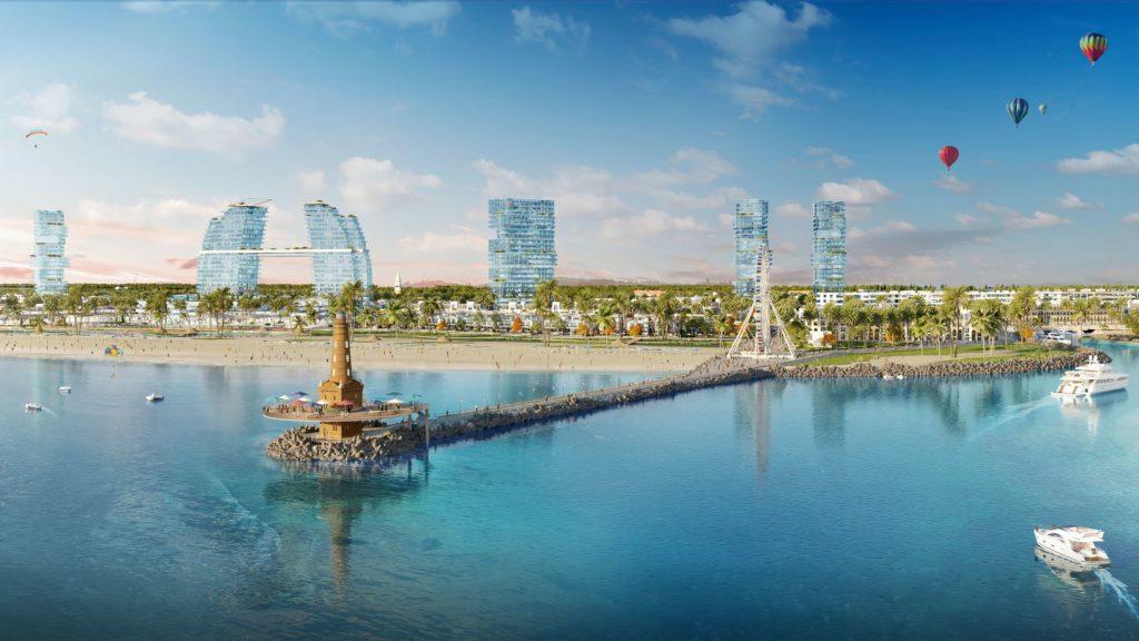 Phối cảnh cầu tàu tại dự án Venezia Beach