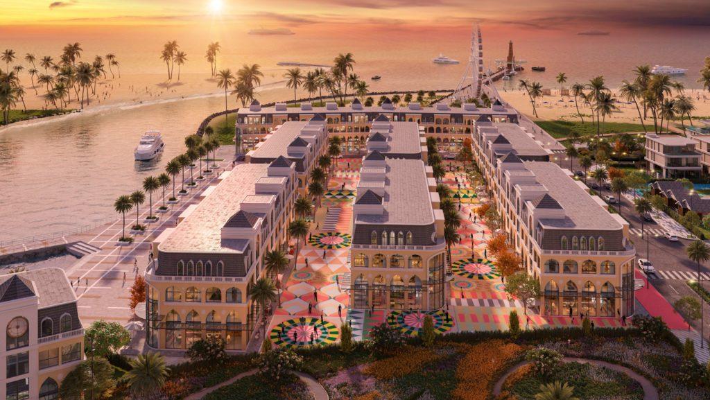Phối cảnh khu Shophouse Plaza tại Venezia Beach Bình Thuận