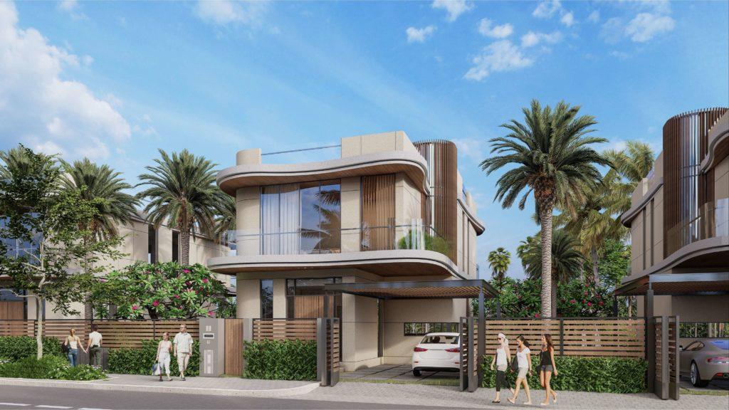 Phối cảnh mẫu nhà biệt thự đơn lập dự án Venezia Beach Hồ Tràm Bình Châu