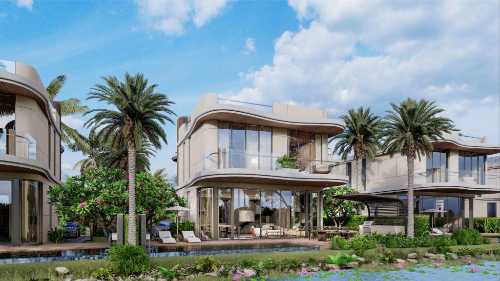 Phối cảnh mẫu nhà biệt thự đơn lập dự án sinh thái biển Venezia Beach Hồ Tràm Bình Châu
