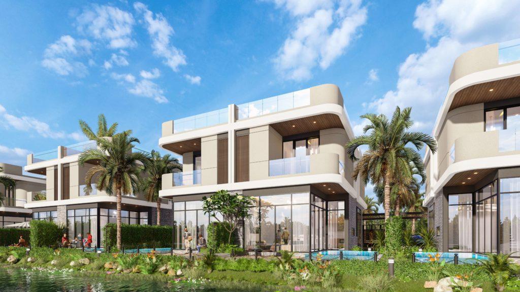 Phối cảnh mẫu nhà biệt thự song lập thuộc dự án Venezia Beach Hồ Tràm Bình Châu