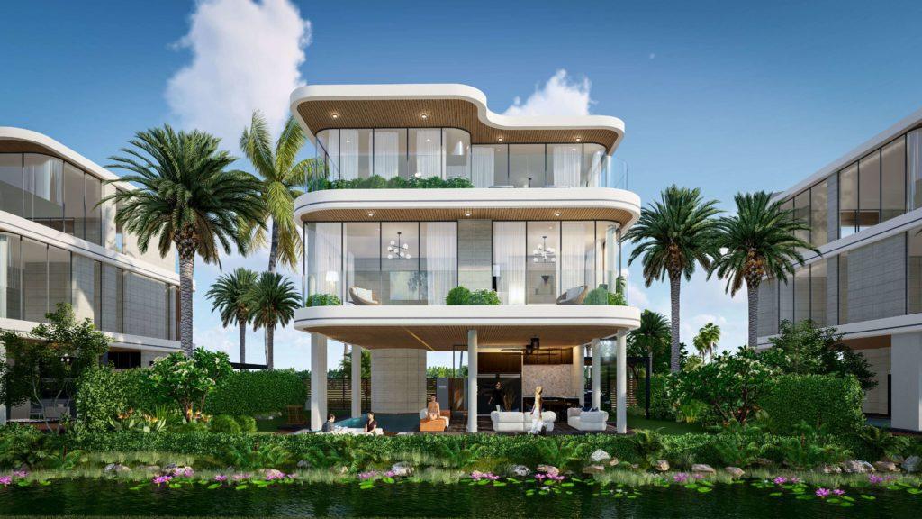 Phối cảnh nhà mẫu Siêu biệt thự mặt biển 3 tầng dự án Venezia Beach Hồ Tràm Bình Châu
