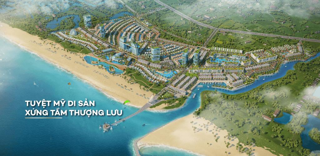 Phối cảnh tổng quan dự án Venezia Beach Village
