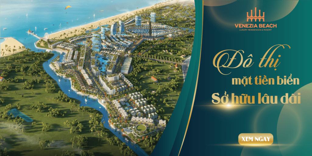 Phối cảnh tổng quan khu đô thị Venezia Beach Hồ Tràm - Bình Châu