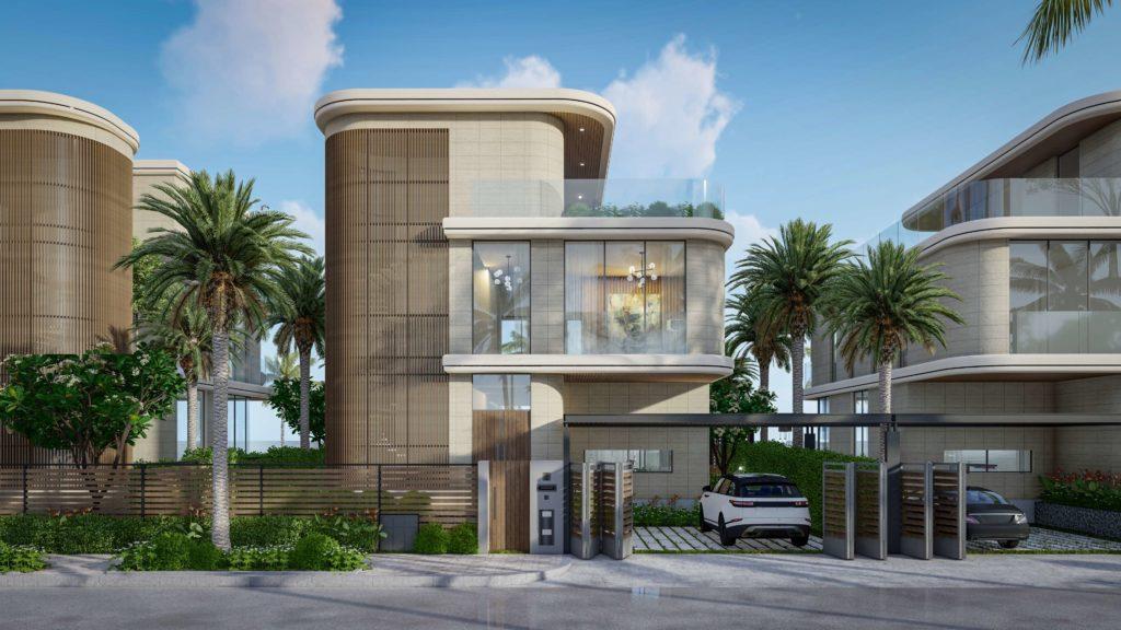 Phối cảnh tổng quan nhà mẫu Siêu biệt thự mặt biển dự án Venezia Beach Hồ Tràm