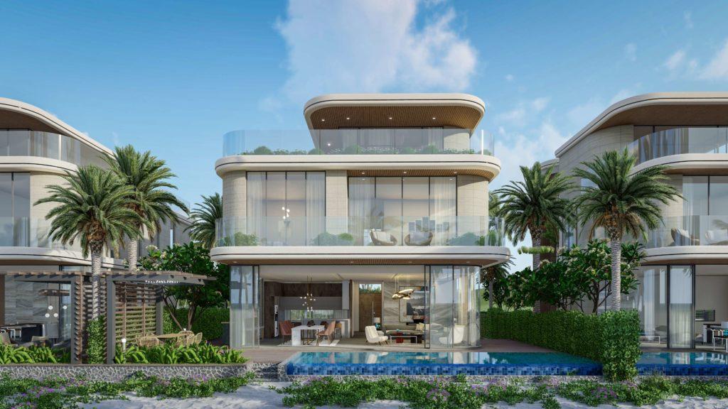 Phối cảnh tổng quan nhà mẫu Siêu biệt thự mặt biển dự án Venezia Beach Hồ Tràm Bình Châu