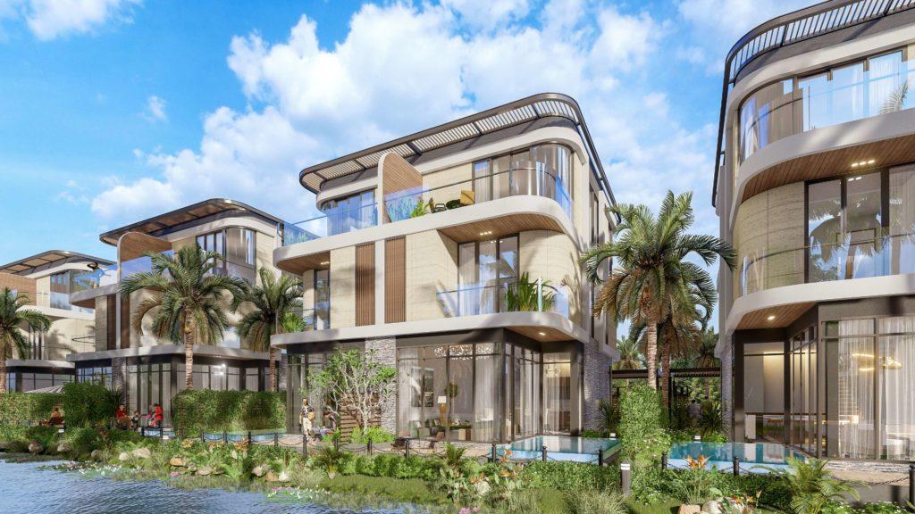 Thiết kế chi tiết mặt sau sản phẩm Biệt thự song lập dự án Venezia Beach