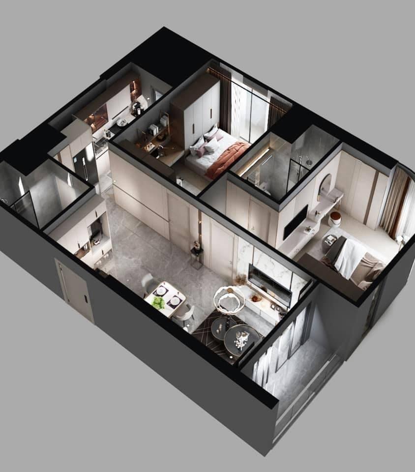 Hình ảnh thiết kế nhà mẫu 3D căn hộ The Beverly Vinhomes Grand Park