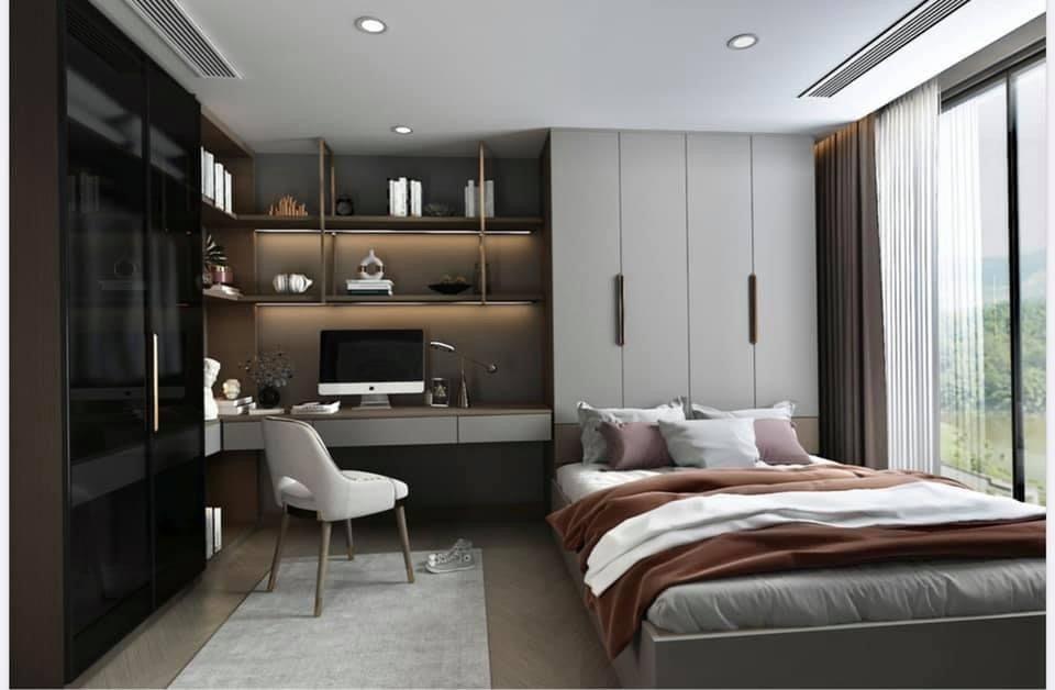Hình ảnh thiết kế phòng ngủ nhà mẫu 3D căn hộ The Beverly Vinhomes Grand Park