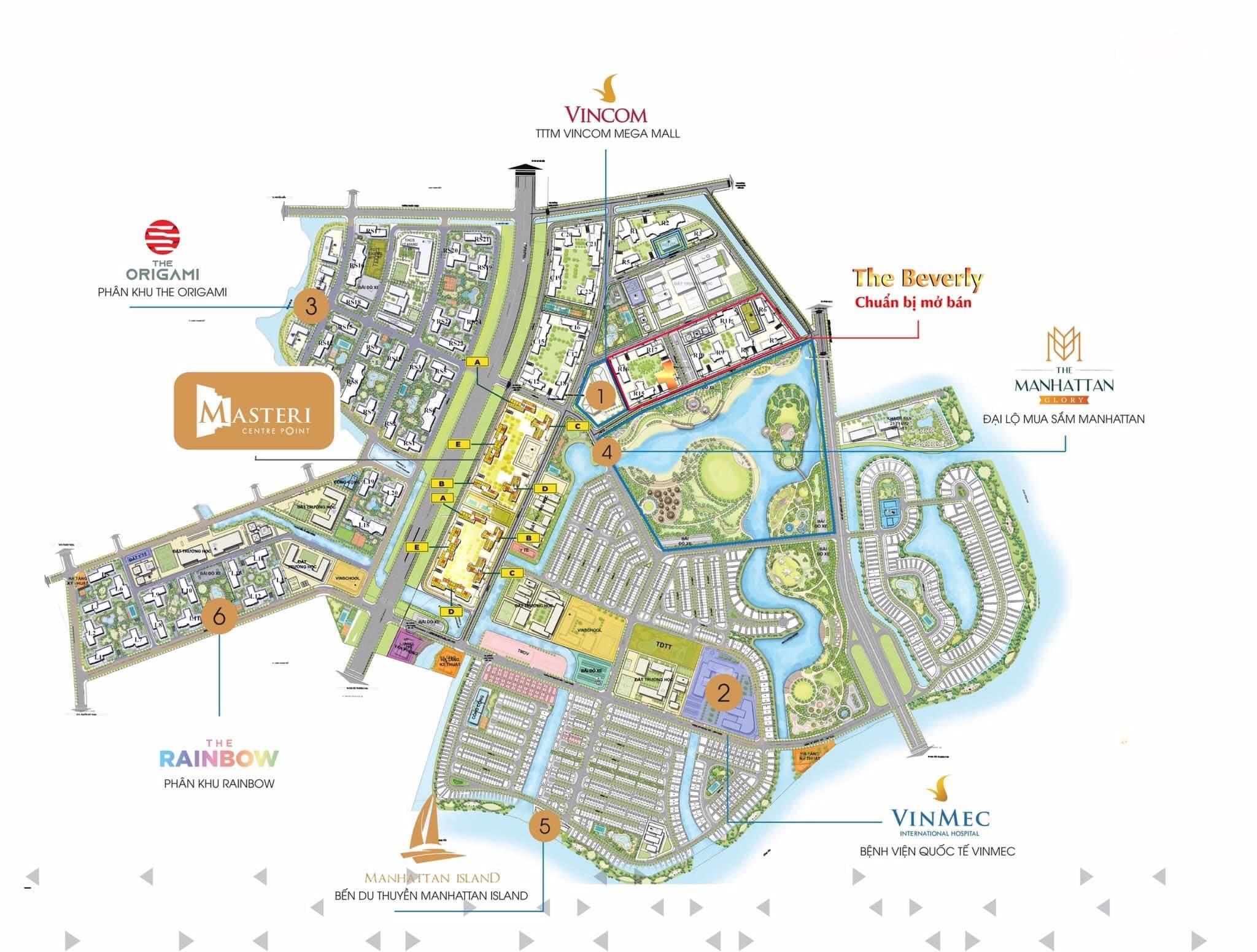 Mặt bằng tổng thể dự án Vinhomes Grand Park