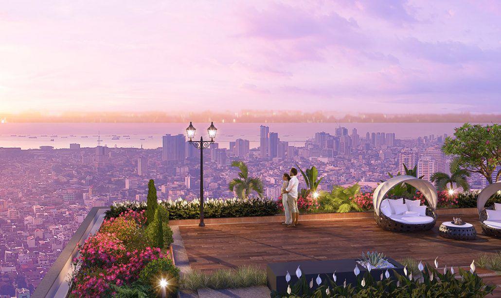 Mô phỏng vườn Sky Garden của phân khu The Beverly từ dự án cùng CĐT