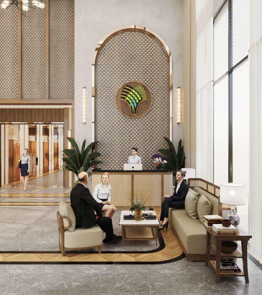 Sảnh lễ tân thiết kế sang trọng và đẳng cấp của dự án The Beverly Vinhomes Grand Park