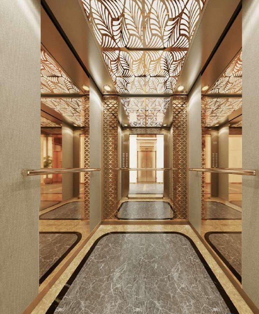 Sảnh thang máy sang trọng của dự án căn hộ The Beverly Vinhomes Grand Park