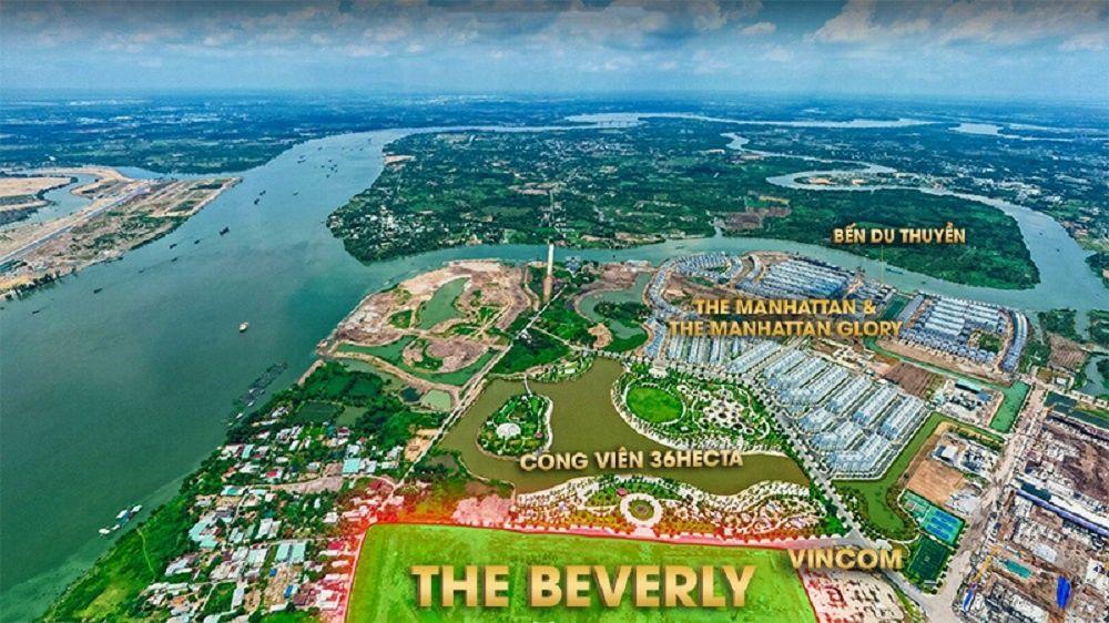 Hình ảnh thực tế vị trí phân khu The Beverly Vinhomes Grand Park