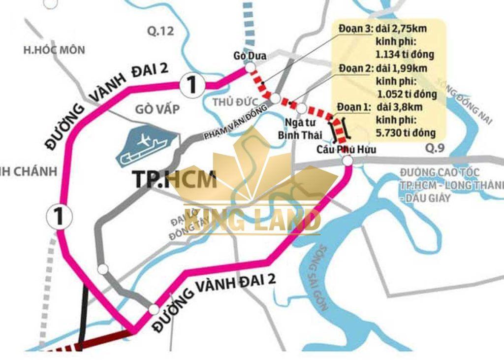Bản đồ quy hoạch đường Vành Đai 2