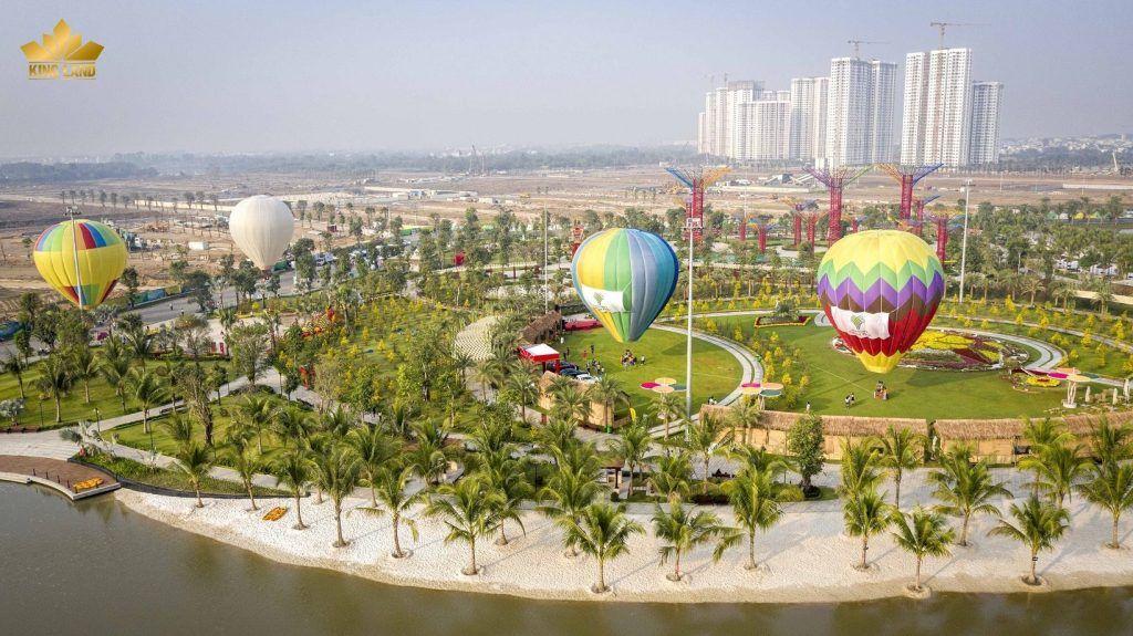 Lễ hội khinh khí cầu tại Vinhomes Grand Park