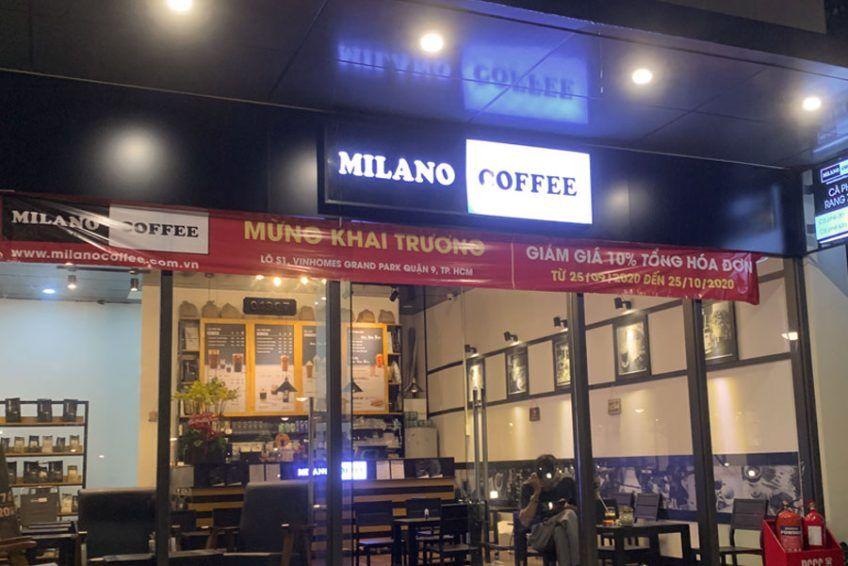Milano coffee tại phân khu The Rainbow