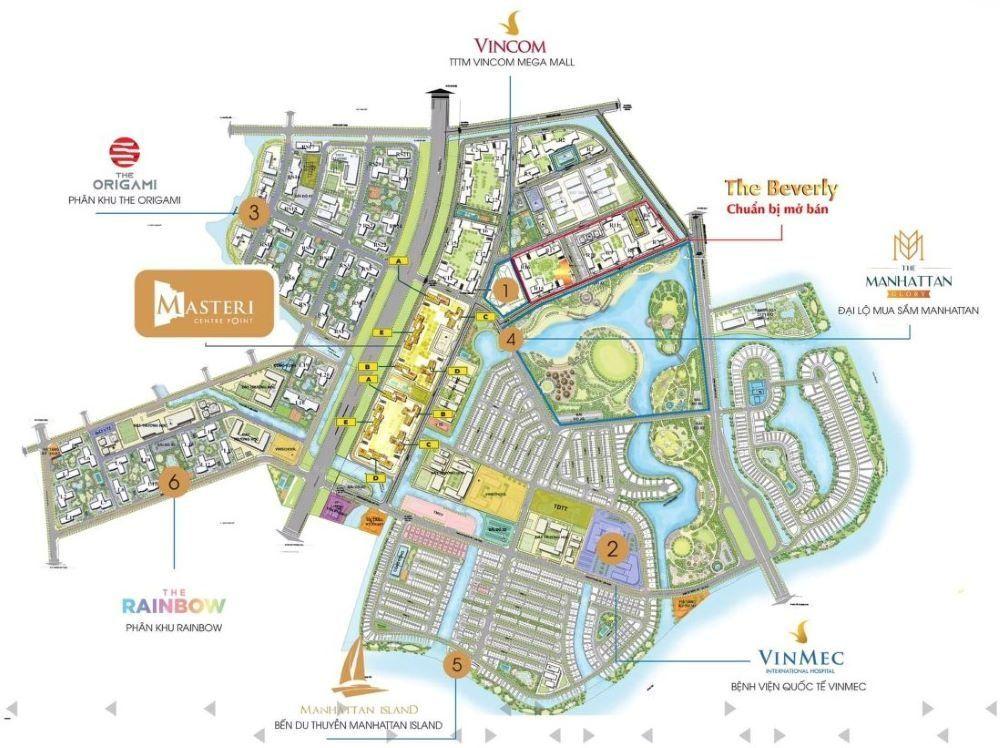 Vị trí phân khu The Beverly Vinhomes Grand Park