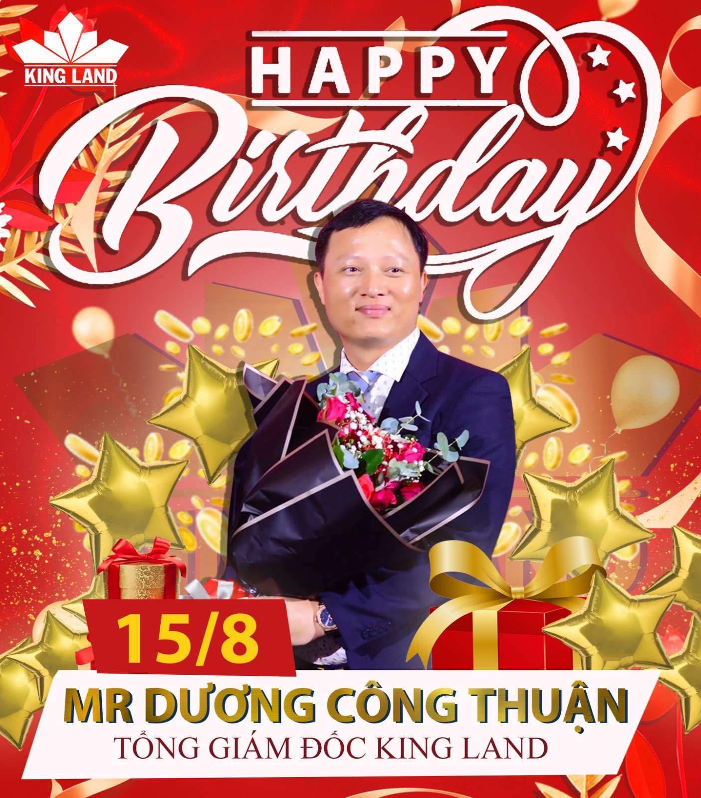 Hình ảnh mừng sinh nhật Sếp tổng King Land