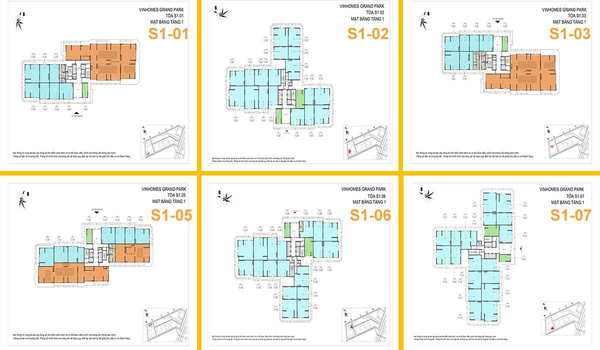 Layout thiết kế Shop The Rainbow Vinhomes Grand Park