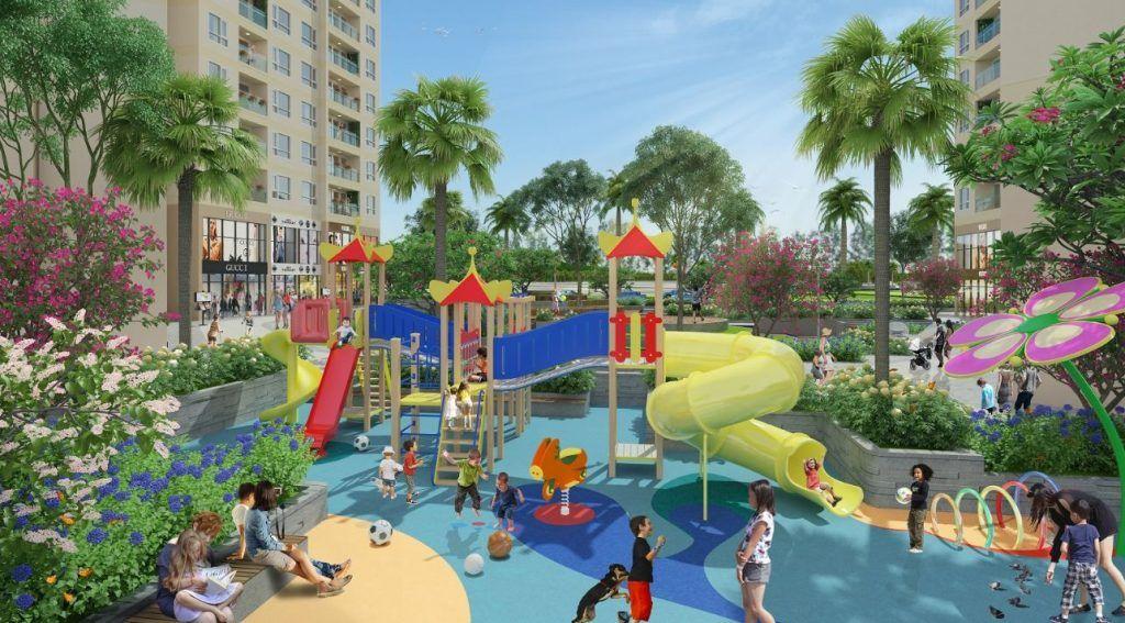 Sân chơi trẻ em liên hoàn tại Vinhomes Grand Park
