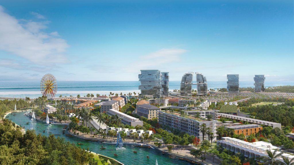 Phối cảnh tổng quan dự án BĐS nghỉ dưỡng Venezia Beach