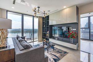 Phòng khách căn hộ 2PN Vinhomes Golden River