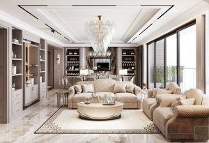 Phòng khách căn hộ 4PN Vinhomes Golden River