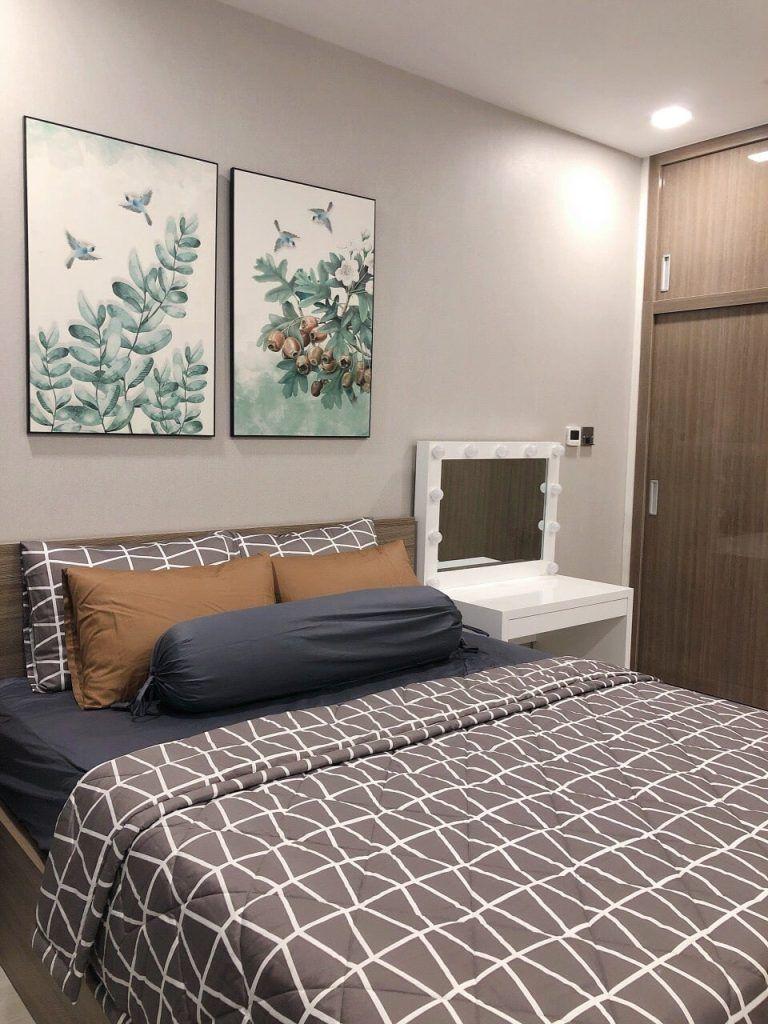 Phòng ngủ căn hộ 1PN Vinhomes Golden River giá thuê 14 triệu